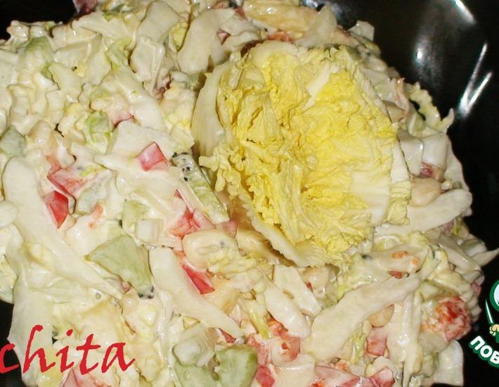 """Рецепт: Салат """"Лакомка"""""""