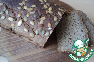 Рецепт: Хлеб пряно-ржаной с тыквой