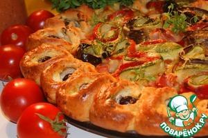 Pie in a Mediterranean style