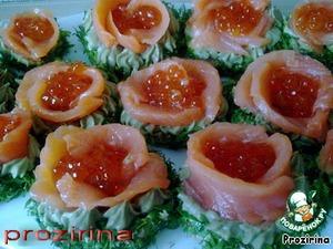 """Бутерброды """"Аленький цветочек"""" – кулинарный рецепт"""