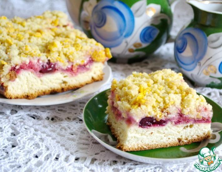 Рецепт: Дрожжевой пирог с клубникой