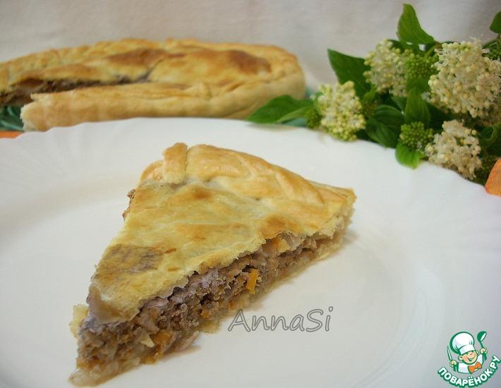Рецепт: Французский пирог с мясом и красным вином