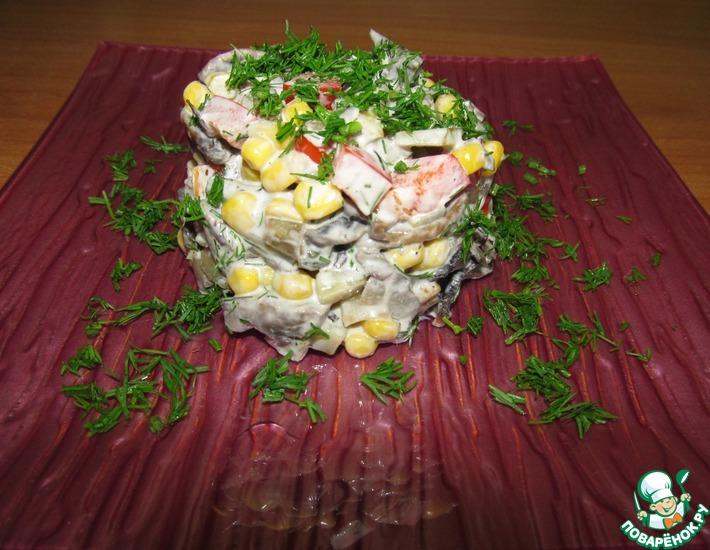 Рецепт: Салат с грибами