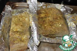 Сало, запеченное в фольге – кулинарный рецепт