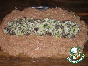 Мясное полено с грибами – кулинарный рецепт