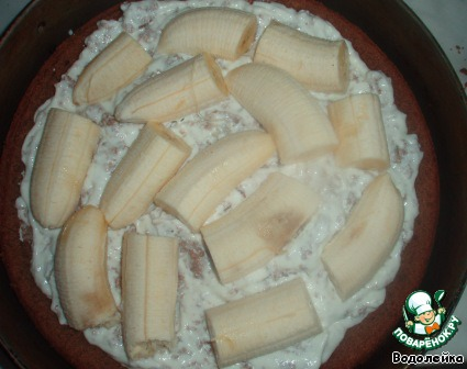Торт Бананы в снегу