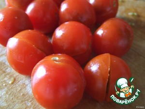 Now combine our halves of tomatoes and yet set it aside.