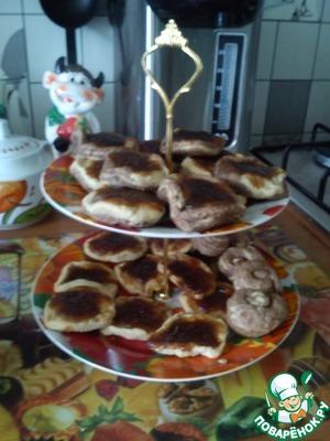 """Рецепт Печенье с повидлом """"День и ночь"""""""