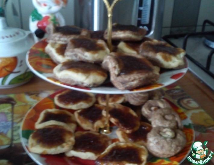 Рецепт: Печенье с повидлом День и ночь