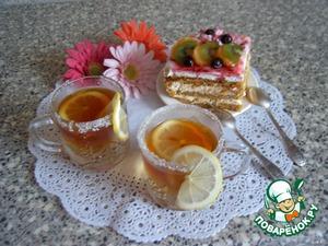 И вот наш двухслойный чай готов.   Приятного аппетита!