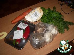 и овощей.