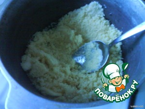 To cook the semolina until Golden brown.