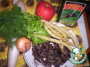 Необходимые для салата продукты.