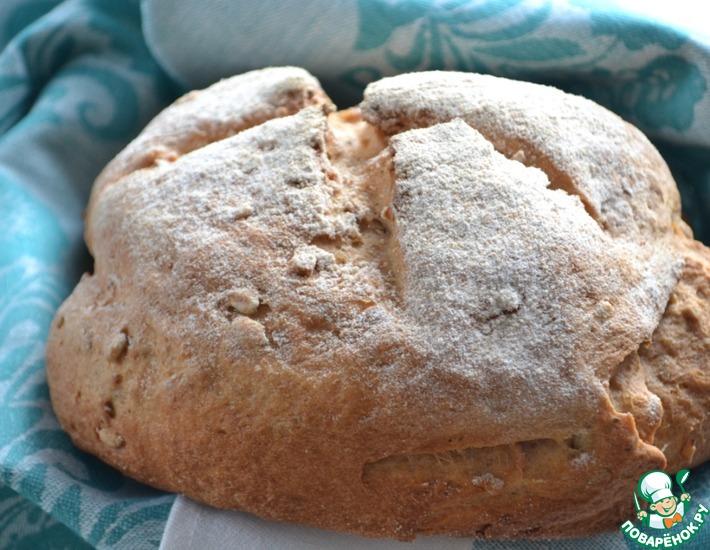Рецепт: Селянский хлеб на ряженке с семечками