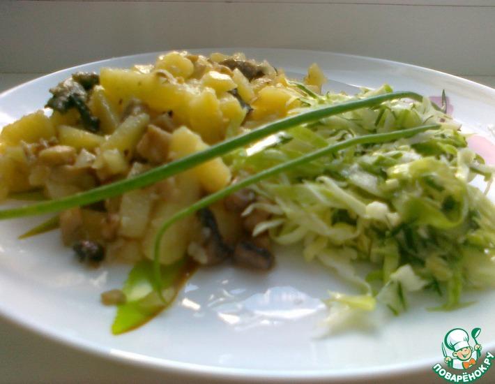 Рецепт: Картофель с грибами