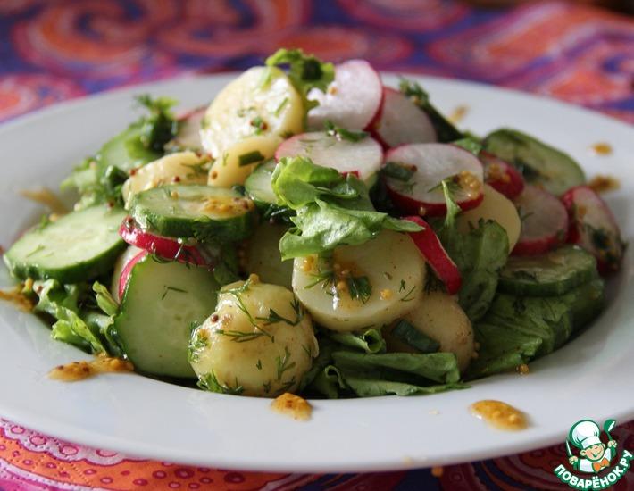 Рецепт: Салат с молодым картофелем и овощами