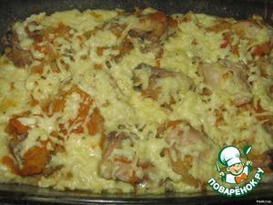 Запечь в духовке до расплавления сыра.