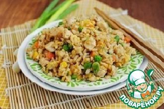 Рецепт: Кисло-сладкий рис с беконом