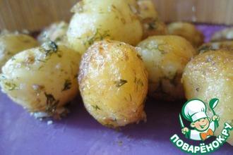 Рецепт: Молодой жареный картофель
