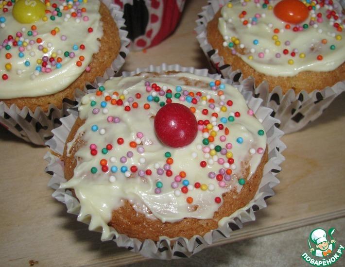 Рецепт: Праздничные маффины (бисквитные)
