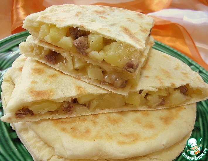 Рецепт: Лепешки наан а-ля Тартифлет