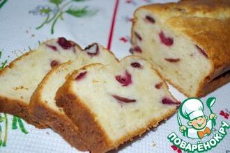 Рецепт: Творожный кекс с вишней или черешней