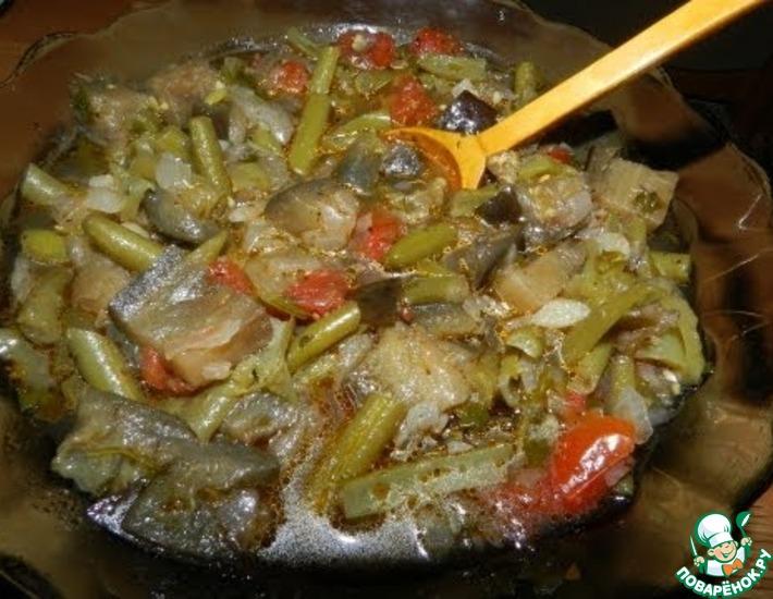 Рецепт: Овощное рагу Аджапсандали в мультиварке