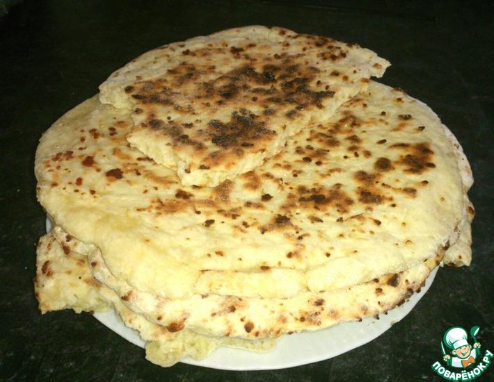 Рецепт: Сырная лепешка