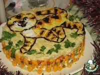 """Салат праздничный слоеный """"Тигруша"""" ингредиенты"""
