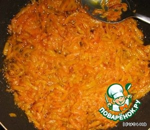 Fry the carrots in vegetable oil.