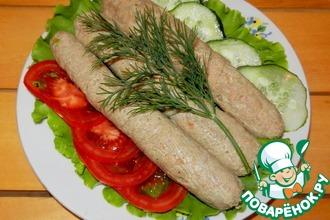 Рецепт: Сосиски из телятины с молоком