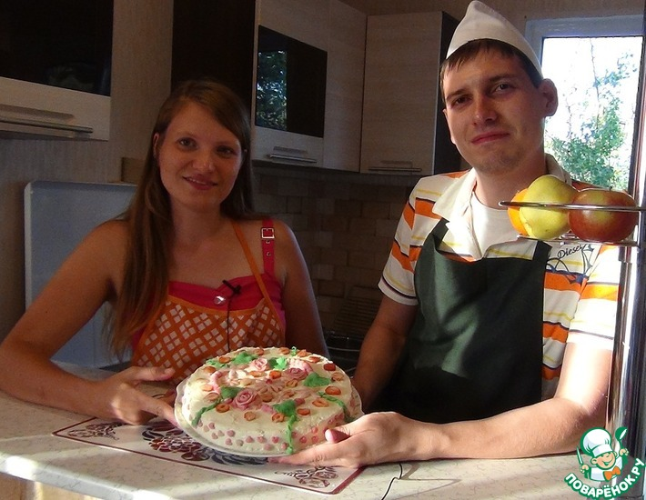 Рецепт: Домашний торт с фруктовым суфле