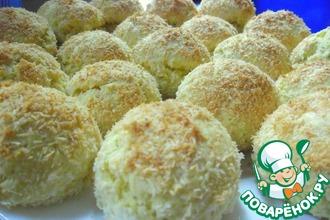 Рецепт: Турецкое курабье с кокосом