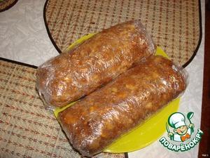 Шоколадная колбаса из печенья – кулинарный рецепт