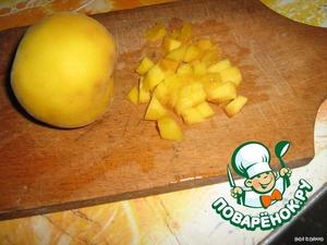 Порезать фрукты.