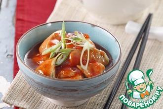 Рецепт: Свинина в соусе томатный и сладкий чили