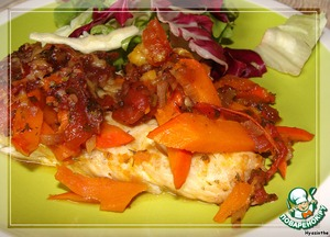 """Рыба в тыквенно-томатной """"шубе"""" – кулинарный рецепт"""