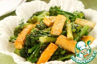 Рецепт: Брокколи с тофу по-китайски