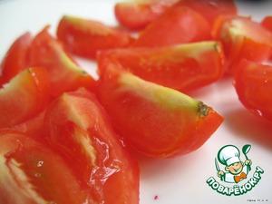 Tomatoes, cut into quarters.