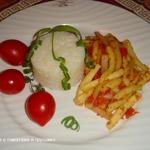 Кабачки с томатами и грушами