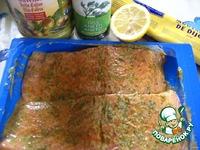 Маринованная семга, запеченная с соусом ингредиенты