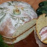Хлеб с творогом и укропом