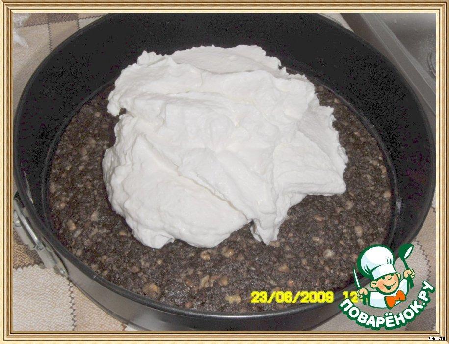 Творожный торт с шоколадной глазурью