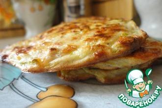 Рецепт: Ржаные сырно-кабачковые оладьи из духовки