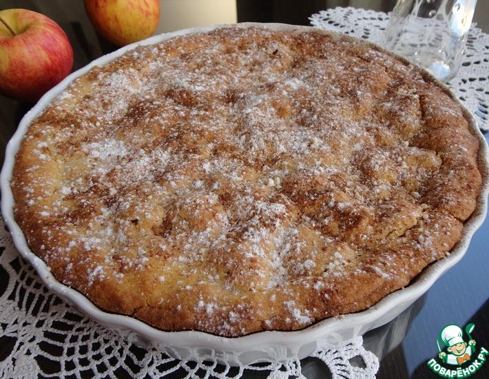 Рецепт: Яблочно-клюквенный пирог из кукурузной муки