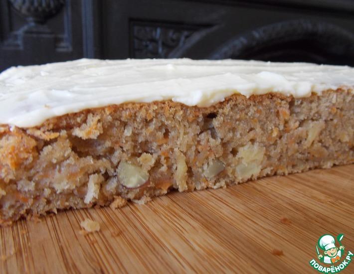 Рецепт: Морковный торт на закваске