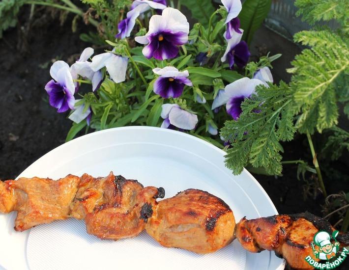 Рецепт: Шашлык из свинины с устричным соусом