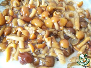 Grind mushrooms (I had mushrooms, I did not chop too finely), you can leave a few pieces for decoration