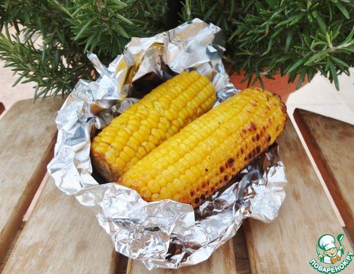Рецепт: Кукуруза с лимоном и чесноком