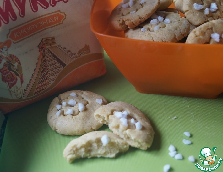 Рецепт: Кукурузно-банановое печенье